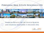 Financial Results For The Fourth Quarter and Financial Year Ended 31 December 2016