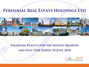 Financial Results For The Second Quarter And Half Year Ended 30 June 2018