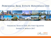 Financial Results For The First Quarter Ended 31 March 2017