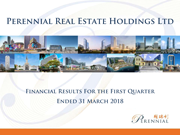 Financial Results For The First Quarter Ended 31 March 2018