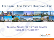 Financial Results For The Third Quarter Ended 30 September 2017